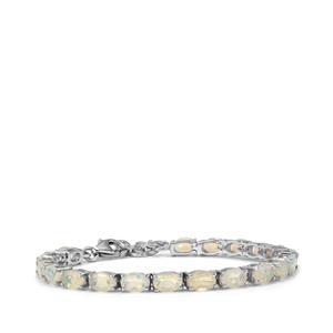 6.87ct Ethiopian Opal Sterling Silver Bracelet