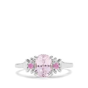 Kolum Kunzite & Pink Sapphire Sterling Silver Ring ATGW 1.81cts