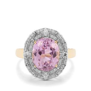 Mawi Kunzite Ring with Diamond in 18K Gold 5.08cts