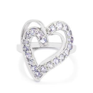 1.19ct Tanzanite Sterling Silver Ring