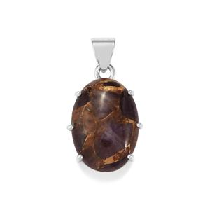 Copper Mojave Amethyst Pendant  in Sterling Silver 20cts