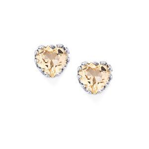 Zambezia Morganite Earrings in Sterling Silver 1.14cts