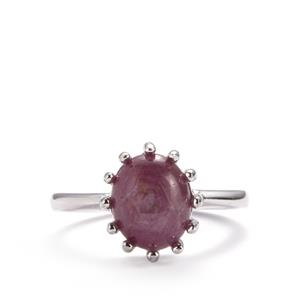 Madagascan Star Ruby Ring in Sterling Silver 4.48cts (F)