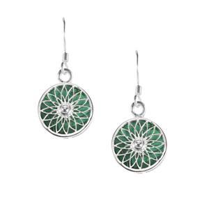 Malachite Enchanted Garden Earrings in Sterling Silver 20cts