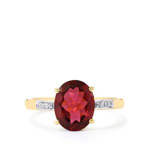 Umbalite & Diamond 9K Gold Ring ATGW 2.79cts