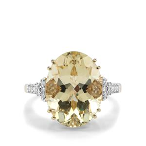 Serenite Ring with Diamond in 14K Gold 8.16cts