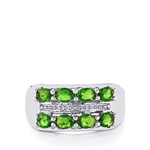 1.52ct Chrome Diopside Sterling Silver Ring