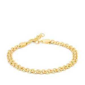 "7"" Midas Altro Diamond Cut Bismark Bracelet 4.19g"