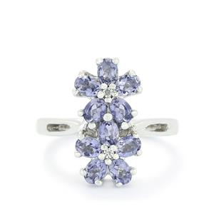 Bengal Iolite & White Topaz Sterling Silver Ring ATGW 1.31cts
