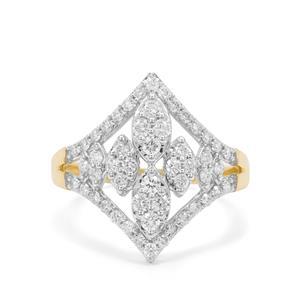 Russian VSi Diamond Ring in 9K Gold 0.76ct