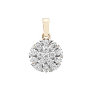 Argyle Diamond Pendant in 9K Gold 0.34ct