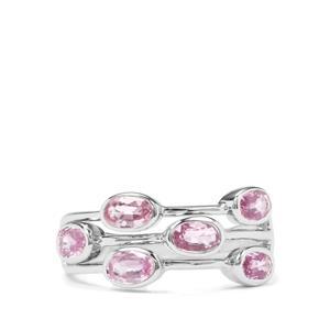 1.79ct Sakaraha Pink Sapphire Sterling Silver Ring