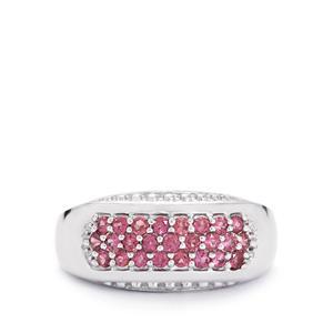 0.86ct Rajasthan Garnet Sterling Silver Ring