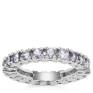 Bi Colour Tanzanite Eternity Ring in Sterling Silver 2.42cts