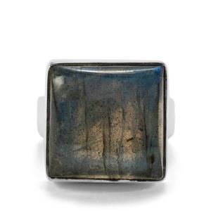 20ct Labradorite Sterling Silver Aryonna Ring