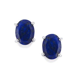 Sar-i-Sang Lapis Lazuli Earrings in Sterling Silver 2.38cts