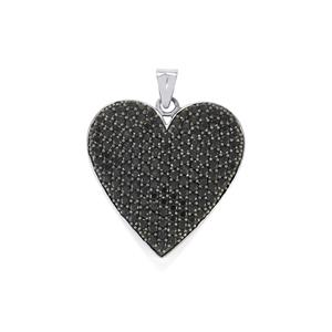 Black Spinel Pendant in Sterling Silver 6.06cts