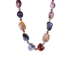 Botswana Agate Necklace in Sterling Silver 444.76cts