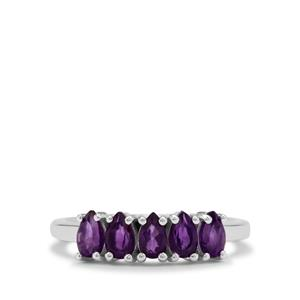 1.05cts Zambian Amethyst Sterling Silver Ring