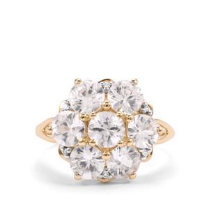 Singida Tanzanian Zircon & Diamond 10K Gold Ring ATGW 4.43cts