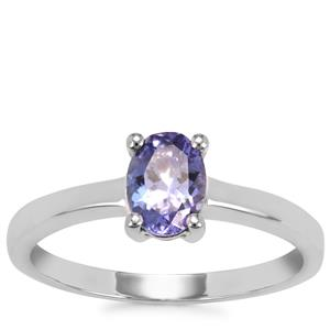Tanzanite Ring in Sterling Silver 0.77ct