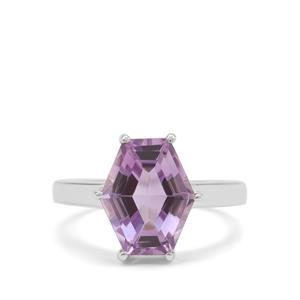 4.45ct Rose De France Amethyst Sterling Silver Ring