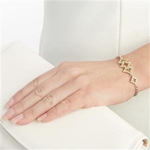 2.54ct Songea Yellow Sapphire Sterling Silver Bracelet