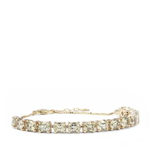 5.59ct Csarite® 9K Gold Bracelet