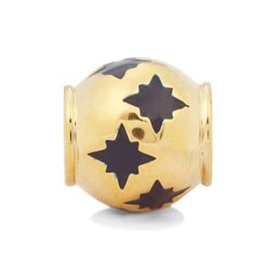 Blue Stars Kama Bead Charms in Gold Plated Sterling Silver