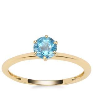Swiss Blue Topaz Ring in 9K Gold 0.55ct