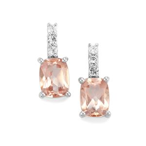 3.80ct Galileia & White Topaz Sterling Silver Earrings