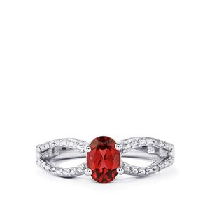 Umbalite Ring with Diamond in Sterling Silver 1cts