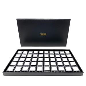 Deluxe Gemstone Display Case with 50 individual pots