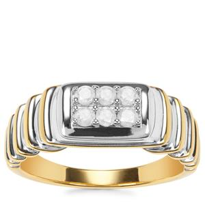 Diamond Ring in Gold Plated Sterling Silver 0.35ct