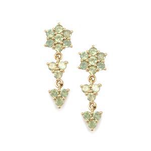 Alexandrite Earrings in 9K Gold 1.43cts