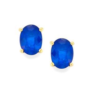 Santorinite™ Blue Spinel Earrings  in 10k Gold 1.73cts