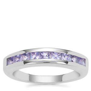 Tanzanite Ring in Sterling Silver 0.85ct