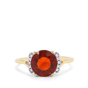 Madeira Citrine & Diamond 9K Gold Ring ATGW 2.34cts