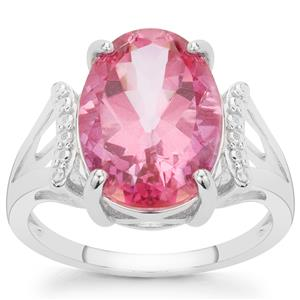 7.15ct Pure Pink Topaz Sterling Silver Ring