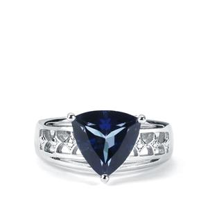 3.58ct Royal Blue Topaz Sterling Silver Ring