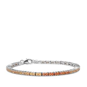 5.84ct Songea Sapphire Sterling Silver Bracelet