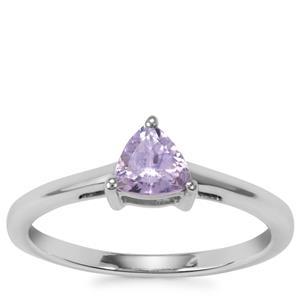 Bi Colour Tanzanite Ring in Sterling Silver 0.61ct