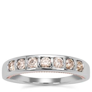 Champagne Diamond Ring  in 9k Two Tone Gold 0.51ct