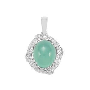 Aquaprase™ Pendant with White Topaz in Sterling Silver 4.82cts