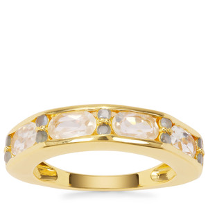 Serenite Ring with Orissa Alexandrite in Gold Plated Sterling Silver 2.04cts