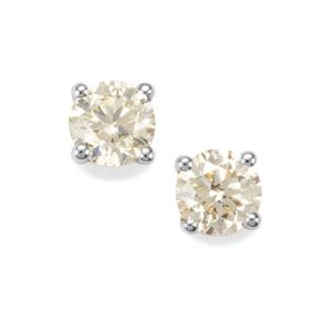 1/3ct Natural Yellow Diamond 18K Gold Tomas Rae Earrings