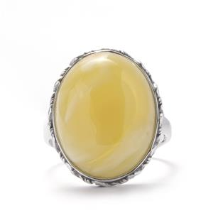 Baltic Butterscotch Amber Ring in Sterling Silver (20 x 15mm)