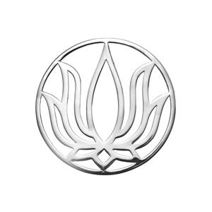 Sterling Silver Lotus Disc 3.22g