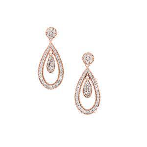 Natural Pink Diamond Earrings in 9K Rose Gold 0.57ct