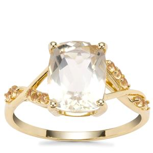 Serenite Ring with Diamantina Citrine in 9K Gold 2.82cts